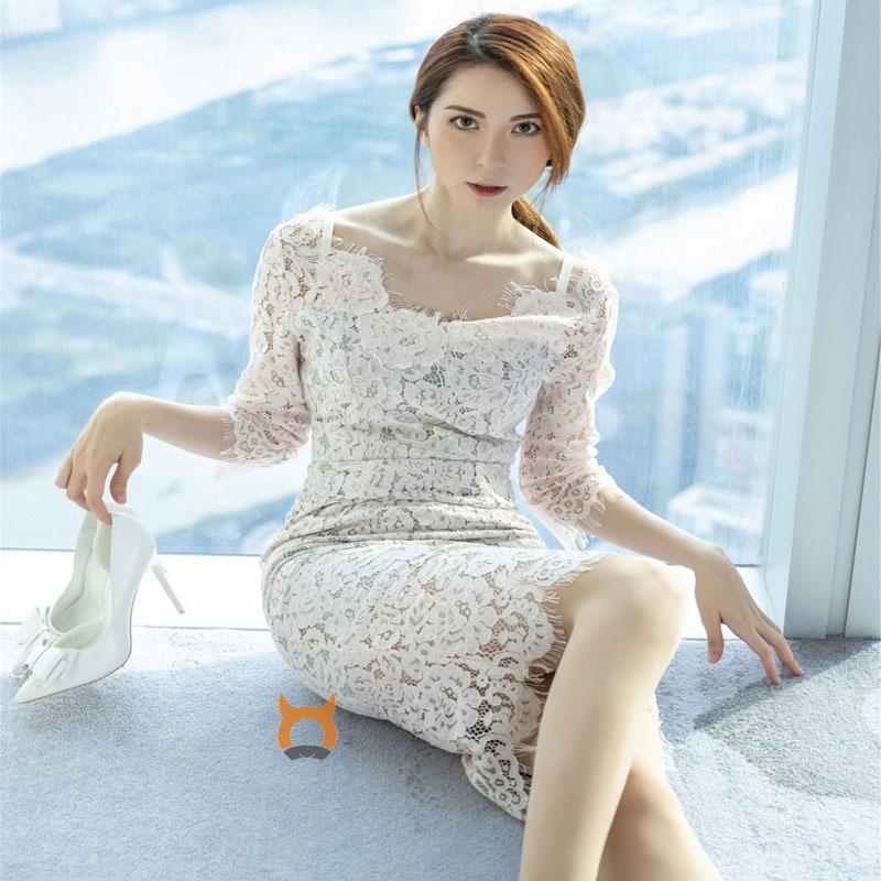 气质女神@carry丝袜美腿写真 性感长裙下气质袅袅撩人心怀